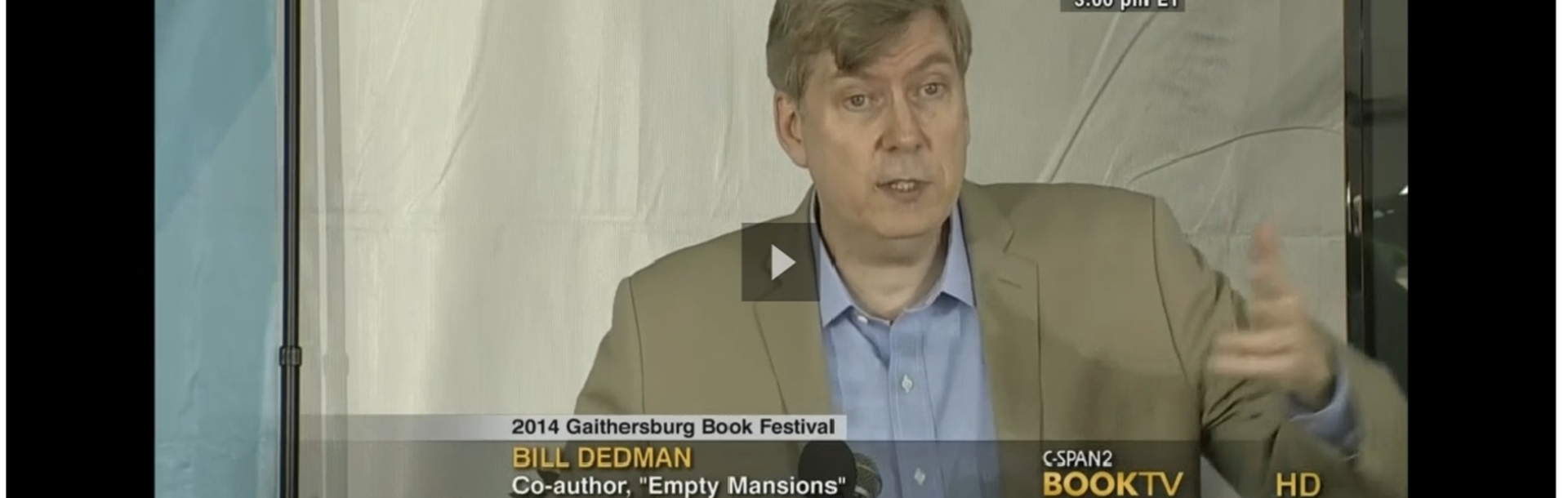 Author Bill Dedman on C-SPAN TV