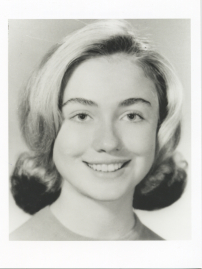 Hillary Clinton in first year at Wellesley