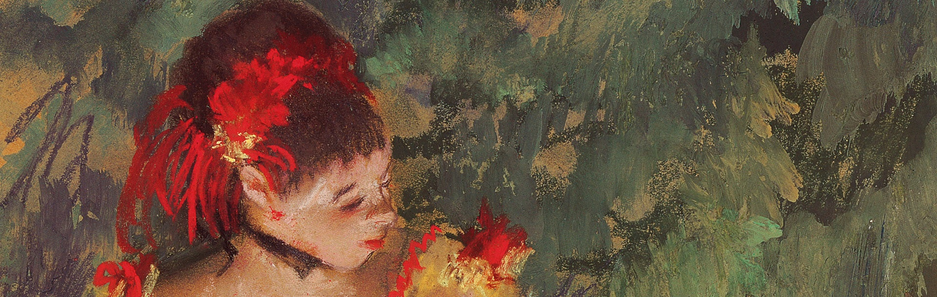 Detail of Degas painting of dancer owned by Huguette Clark