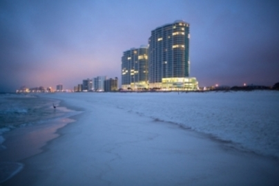Condo towers by the beach