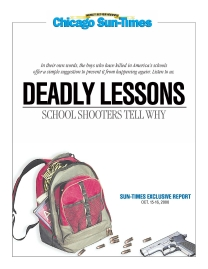 Cover of Chicago Sun-Times series on school shooters